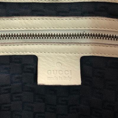 strap point shoulder bag white